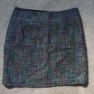 Loft Outlet multicolor tweed mini skirt